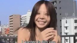 JAV amateur striptease rooftop blowjob Subtitles