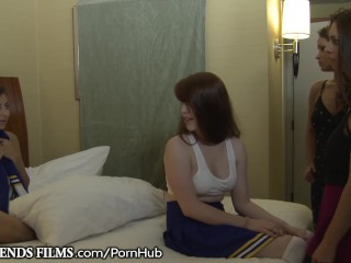 Hot MILF Disciplines Naughty Teen Cheerleader