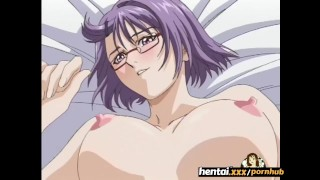 Nerdy girl with glasses takes it secretly at the beach Hentai.xxx