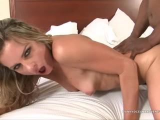 DOCEAN - Whore Amanda Blow Creampied by Black Cum