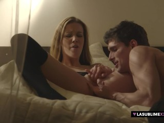 Alexis Crystal make romantic sex with her boyfriend