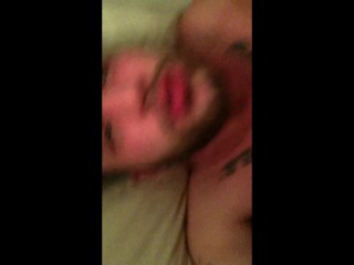 Hard fucked by brazilian stud and eating cum