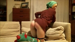 Happy Holidays Special: Santa's Naughty Helper Needs Punished via Spanks