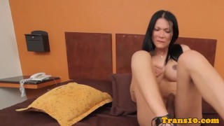 Busty latina tgirl spreads cheeks and tugs Lithuanian kink