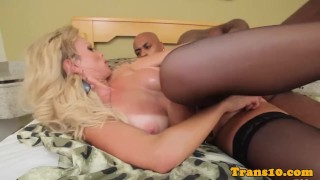 Before anal bbc with bigtitted tranny sucking tranny jerking