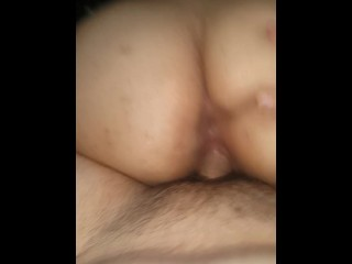Hot chick rides dick and then gets creampie