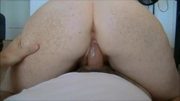Freckled redhead fuck and accidental facial