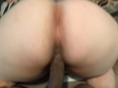 BIG BOOTY PAWG CREAMING ON BBC