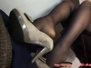 Training a girl to step on a man how footstool