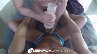 MenPOV Fleshlight fun turns into muscle ass fucking