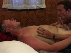 Intimate Older Younger Mature Daddy Boy Sucking