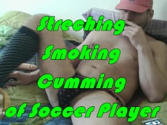 HOT STUD STRETCHING BALLS ,SMOKING AND CUM CBT
