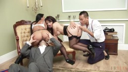 Party Babe & French Maid Fucked In A Swingers Party
