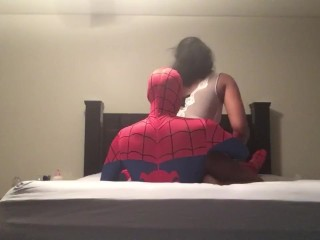 Spider Man fucks Big Booty Ebony