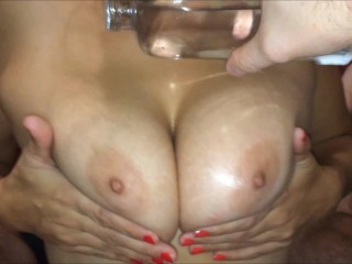 Nice Oiled Tits Facial for Hot Asian with Perfect Natural Tits (FULL VIDEO)