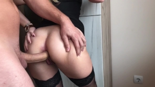 Blonde Teen gets Crazy for Extreme Deep ANAL, GAPE and CREAM Ass girl