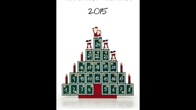 Vintage flat fold advent calendar Advent calendar