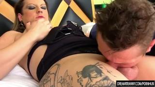 Flip Flop bareback tranny Amanda Ferraz fucking Eating blowjob