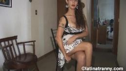 Nikki Montero cumming under the dress milking it