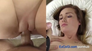 Fun Redhead Amateur Hotel Suck, Fuck and Cum Facial porno