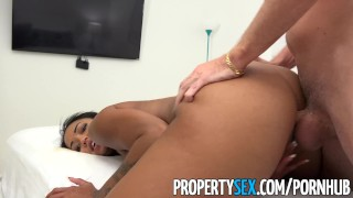 PropertySex - Hot property manager fucks pissed off tenant Missionary cucked