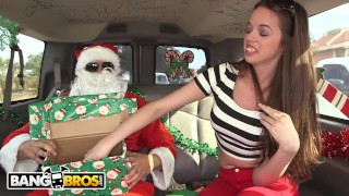 BANGBROS A Very Bang Bus Christmas with Mia Monroe and Santa Claus