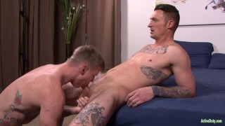 And fuck tattooed bros cock bareback suck army raw recruit