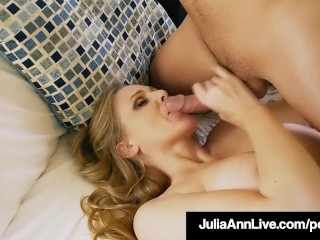 Isis of love step mom milf julia ann gets a load on her face by step son! Juliaannli