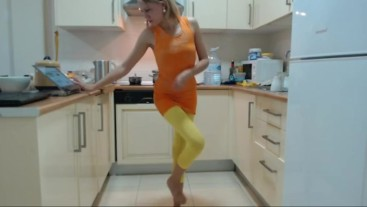 Sexy Girl In The Kitchen No Nudity