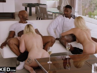 pornstar. interesting story ending with interracial orgy with blowjob culminated with cum leaking out of the hole. guy with massive cock. blonde with big boobs.  @BLACKED