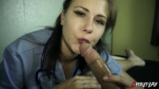 Nurse Gets A Mouth Full Of Cum - LJFOREPLAY Cute babe