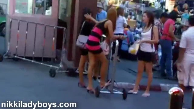 Meet asian ladyboys in bangkok - Walking street with ladyboys working in nana plaza bangkok
