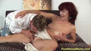 skinny mom deepthroat a strong dick Webcam jerk