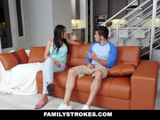 Preview 2 of FamilyStrokes - Making My Hot StepCousin Squirt