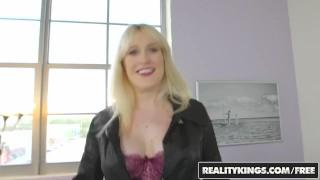 Big Naturals - Blonde milf Kiki Pa shows off her big boobs Lingerie hardcore