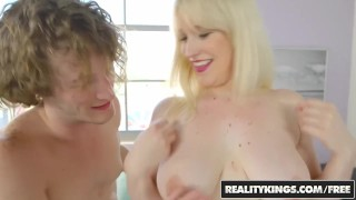 Big Naturals - Blonde milf Kiki Pa shows off her big boobs
