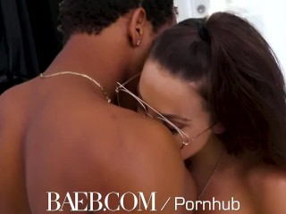 Preview 3 of BAEB Interracial fuck and facial with busty babe Abigail Mac