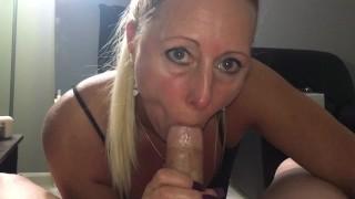 Dirty blonde sucks