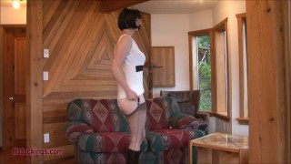 Sheer ffstockings panty tease mature fetish hair