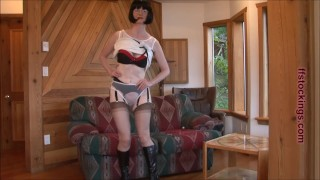 FFstockings - Mature sheer panty tease Sex canarias