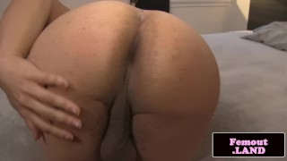 Bigbooty lingerie tgirl tugging her cock solo