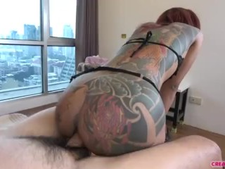 Mature Brunette Sheila Marie Masturbates Before Sucking and Fucking