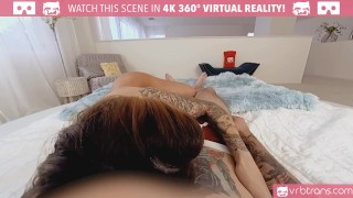 VRB Trans - Sexy tranny TS Foxxy gets fucked in her tight ass and Blowjob Tits big