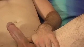 Sexy cowboy Jeff massages his toes and jerks off
