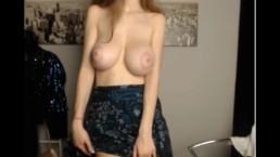 girl shows her beautiful big tits
