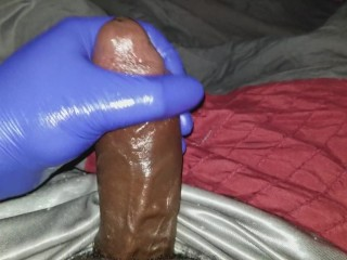 HandJob With Rubber Glove