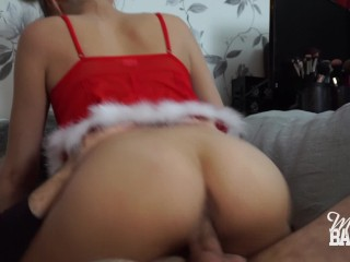Hot blonde babe gets creampied doggystyle - Miss Banana