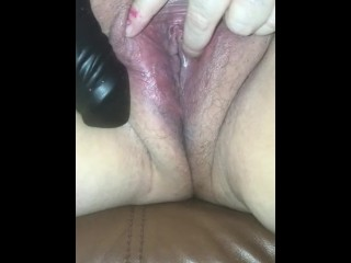 Blonde bbw plays with hot dildos hard