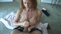 a huge black dick cums on the big tits of a beautiful business woman!