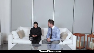 TeenPies - Muslim Teen Gets Creampied Anal doggy